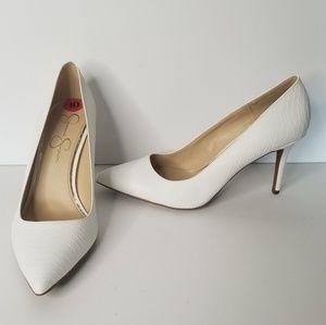 NEW | Jessica Simpson | Textured White Stilettos